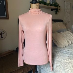 H&M Tops - Blush Long Sleeve Fitted Turtleneck Size Small